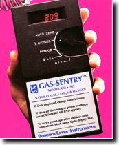 Bascom,Turner,Gas,Sentry,Combustible,Gas,CO,H2S,Oxygen,Monitor,CGA-501